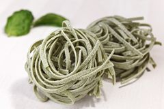 Homemade spinach pasta Royalty Free Stock Photography