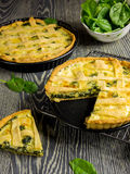 Homemade spinach quiche Stock Photography