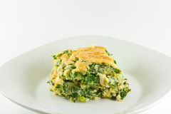 Homemade Spinach Souffle Stock Photos