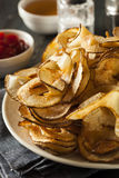 Homemade Spiral Cut Potato Chips Royalty Free Stock Photography