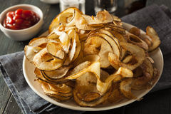Homemade Spiral Cut Potato Chips Royalty Free Stock Image