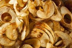 Homemade Spiral Cut Potato Chips Stock Image