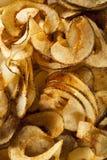 Homemade Spiral Cut Potato Chips Stock Photography