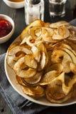 Homemade Spiral Cut Potato Chips Royalty Free Stock Photos