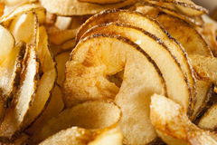 Homemade Spiral Cut Potato Chips Stock Images
