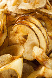 Homemade Spiral Cut Potato Chips Royalty Free Stock Photo