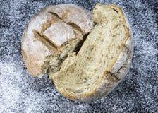 Homemade split bread Stock Images