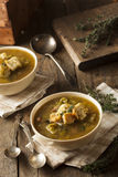 Homemade Split Pea Soup Stock Photo