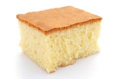 Homemade sponge cake. On white Royalty Free Stock Photography