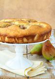 Homemade sponge cake with pears Stock Photography