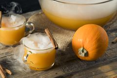 Homemade Spooky Pumpkin Spice Punch royalty free stock photography