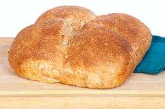 Homemade square whole wheat bread Royalty Free Stock Image