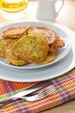 Homemade squash pancakes Stock Image