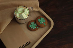Homemade St Patrick Day cookies Stock Photos