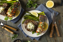 Free Homemade Steak And Lobster Surf N Turf Royalty Free Stock Images - 96834079