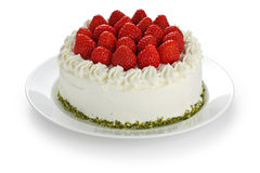 Homemade strawberry cake Stock Image