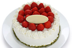 Free Homemade Strawberry Cake Royalty Free Stock Image - 17989686