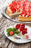 Homemade Strawberry Cake Stock Image
