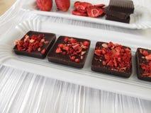 Homemade strawberry chocolate Stock Photo