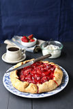 Homemade strawberry galette Royalty Free Stock Images