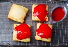 Homemade  strawberry glaze pies Royalty Free Stock Image