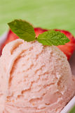 Homemade strawberry ice cream Stock Photography