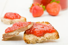 Homemade strawberry jam Royalty Free Stock Photography