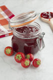 Homemade strawberry jam Royalty Free Stock Photos