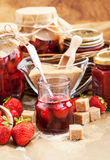 Homemade strawberry jam Stock Photography