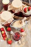Homemade strawberry jam Royalty Free Stock Photos