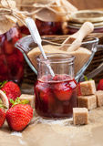 Homemade strawberry jam Stock Image