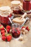 Homemade strawberry jam Royalty Free Stock Image