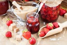 Homemade strawberry jam Stock Photo