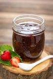 Homemade strawberry jam in the jar Stock Image