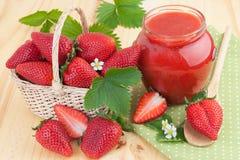 Homemade strawberry jam Stock Photos