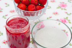 Homemade strawberry jam Stock Photography