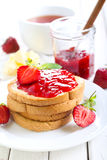 Homemade strawberry jam Royalty Free Stock Images