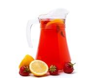 Homemade strawberry lemonade Royalty Free Stock Photography