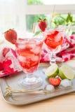 Homemade strawberry lemonade Royalty Free Stock Images