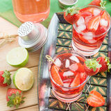Homemade strawberry lemonade Royalty Free Stock Photo