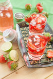 Homemade strawberry lemonade Stock Images