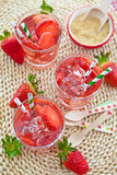 Homemade strawberry lemonade Stock Image