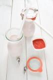 Homemade strawberry milk shake Stock Photography