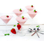 Homemade strawberry mousse Royalty Free Stock Photo