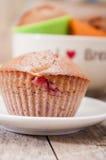 Homemade strawberry and orange muffins Stock Photo