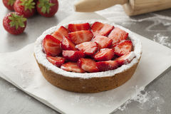Homemade strawberry pastry Royalty Free Stock Photography