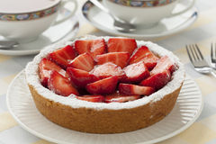 Homemade strawberry pastry Royalty Free Stock Images