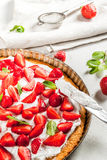 Homemade strawberry pie Royalty Free Stock Photography
