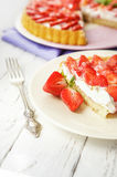 Homemade strawberry pie Royalty Free Stock Images