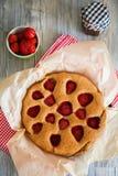 homemade strawberry pie Royalty Free Stock Photos